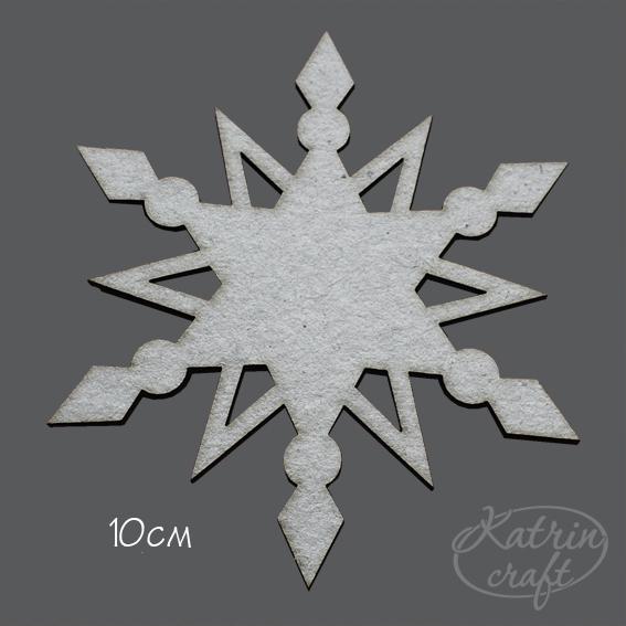 Как сделать из картона снежинку
