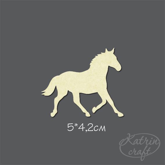 Чипборд Лошадь 1 маленькая - Животные